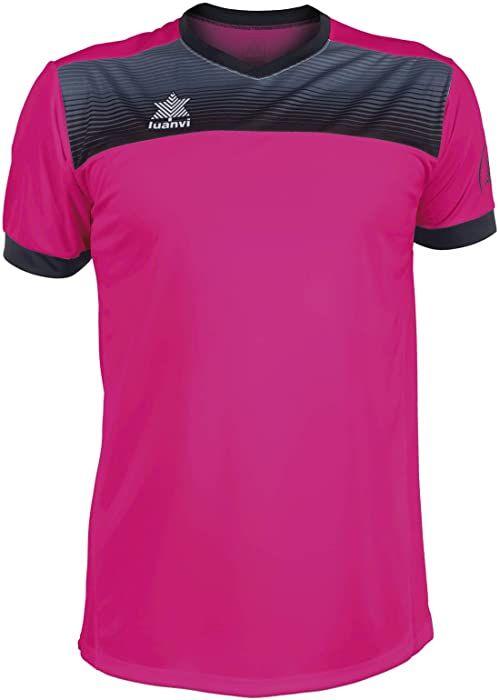 Luanvi Bolton męska koszulka tenisowa z krótkimi rękawami. różowy Rosa 4XS