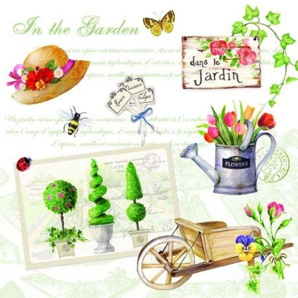SERWETKI PAPIEROWE - Gardening - Ogród (414 GARD)