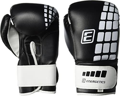 Energetics Rękawice bokserskie FT, czarne/białe, 6 oz
