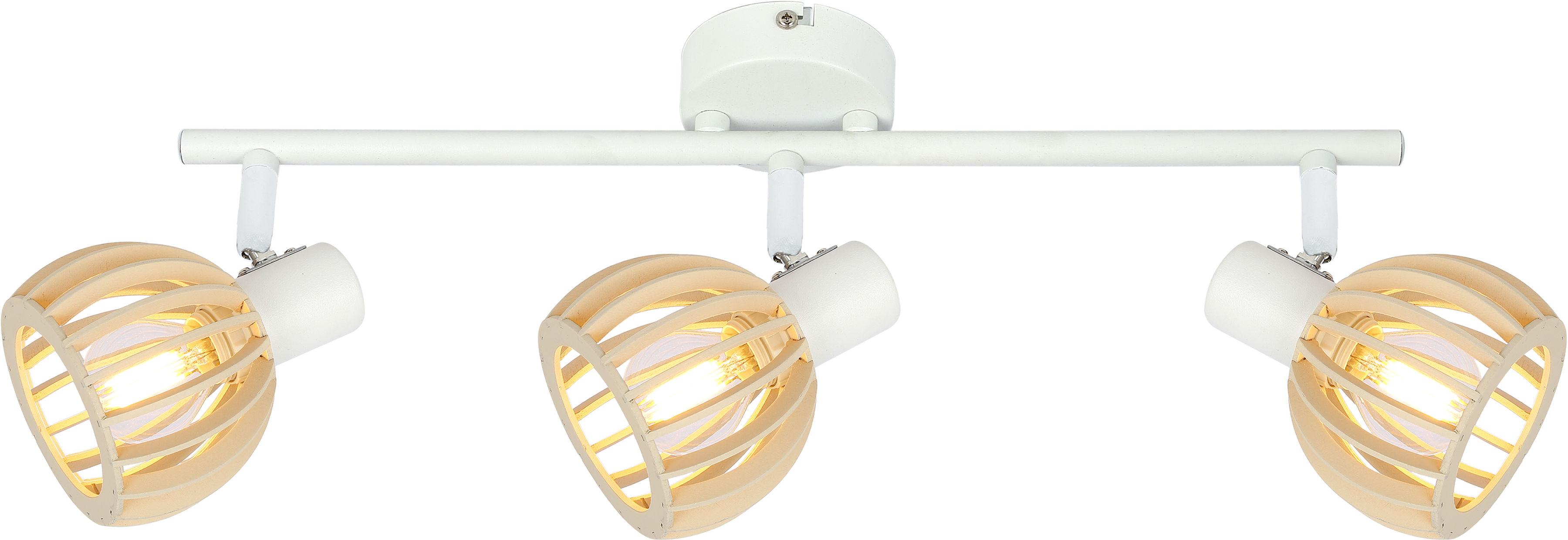 Candellux ATARRI 93-68095 listwa oświetleniowa biały regulacja klosza 3X25W E14 drewno 58cm