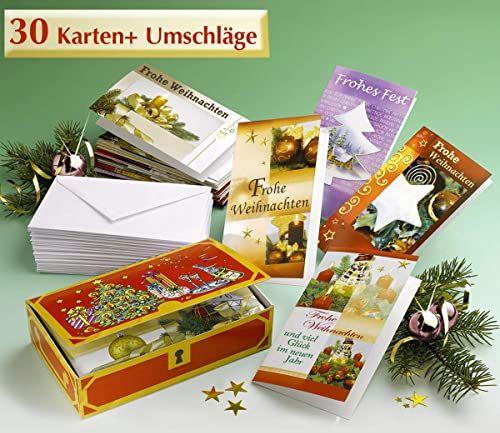 WENKO 6803510500 pudełko na kartki świąteczne  z 30 składanymi kartkami, z masy celulozowej, 17,5 x 4,5 x 10,5 cm, kolor brązowy
