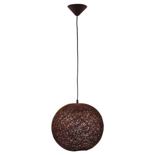 Lampa wisząca pleciona zwis ABAKA wenge śr. 35cm