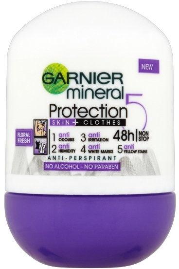 Garnier Mineral 5 Protection antyperspirant roll-on 48 godz. 50 ml + do każdego zamówienia upominek.