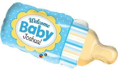 """Balon foliowy 39"""" Niebieska butelka niemowlęca"""