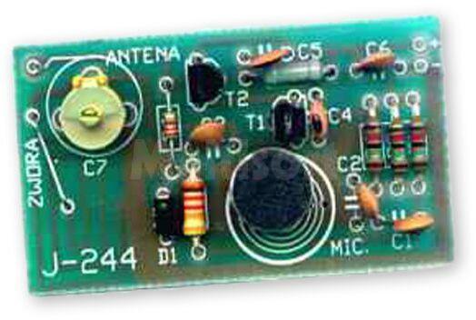 Mikrofon bezprzewodowy UKF na pasmo 88-108 MHz (do montażu)