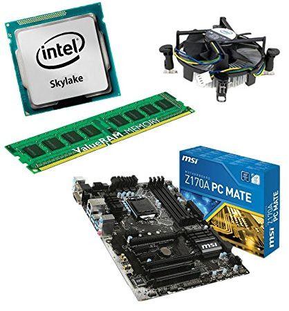 zestaw do aktualizacji MSI Z170A PC Mate płyta główna do komputera stacjonarnego/PC z procesorem i5-6700K Skylake, 8 GB DDR4 RAM i grafiką Intel HD530 na chipie