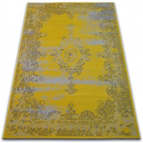 Dywan Vintage Rozeta 22206/025 żółty 80x150 cm