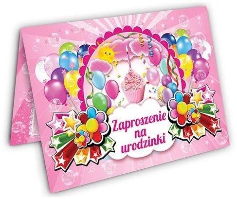 Zaproszenie na Urodziny dla dziewczynki zx6905