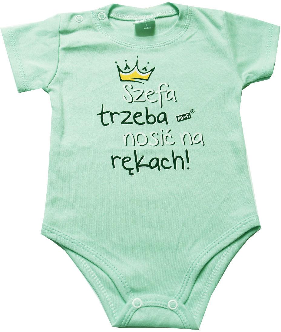 Body dla niemowląt z krótkim rękawem Szefa trzeba nosić na rękach