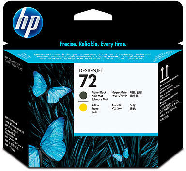 Głowica HP 72 / C9384A Matte Black Yellow do drukarek (Oryginalna)