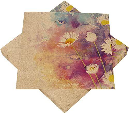 HEKU 30243-58: 100 serwetek, 3-warstwowe, kwiatki, inne