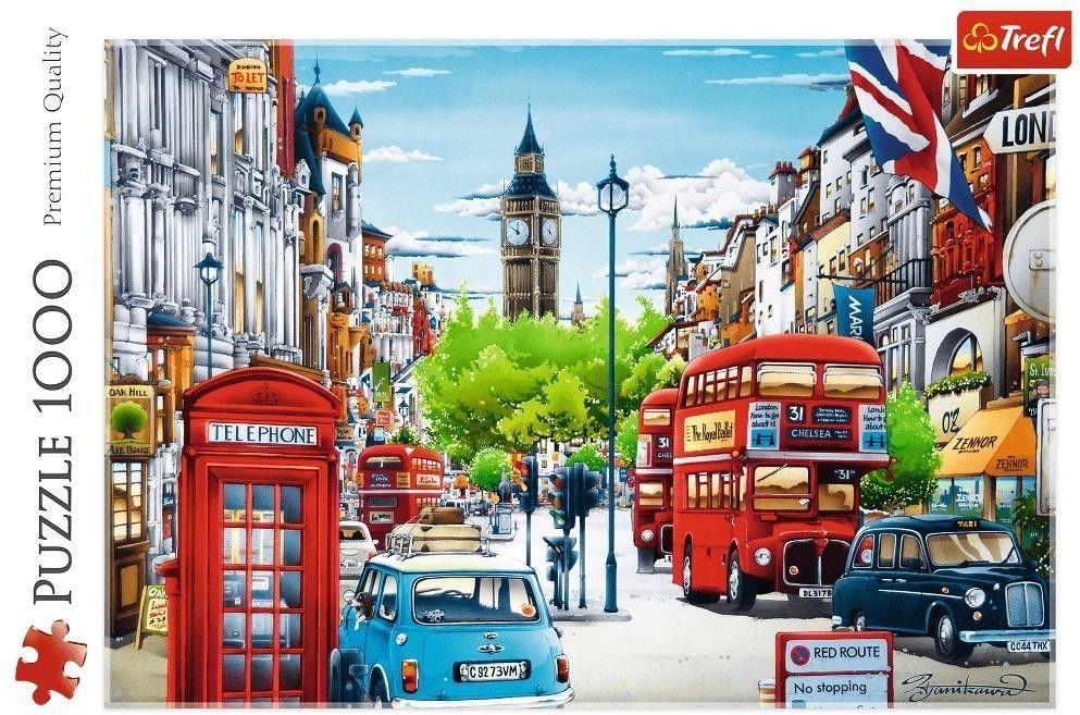 Puzzle TREFL 1000 - Ulica Londynu, London street