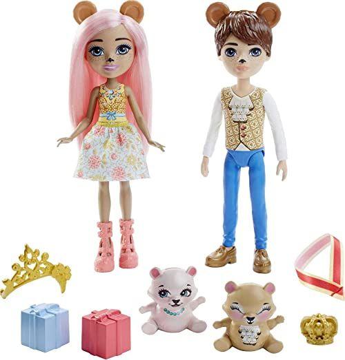 Enchantimals 0887961972672 GYJ07-Braylee niedźwiedź i bannon lalki, mieszane