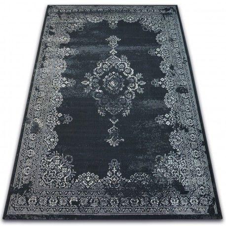 Dywan Vintage Rozeta 22206/996 czarny 80x150 cm