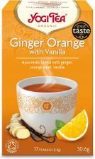 Herbatka Imbirowo-Pomarańczowa z wanilią BIO (17x1,8g) Yogi Tea