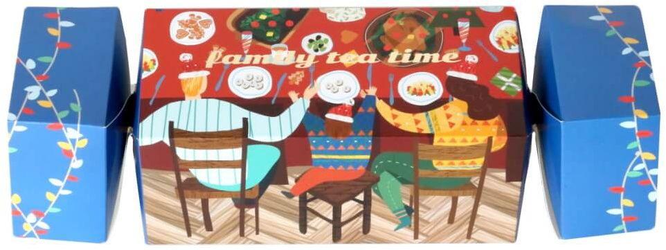 Świąteczny bożonarodzeniowy cracker z herbatą Family tea time - 14 różnych smaków herbat + zaparzacz