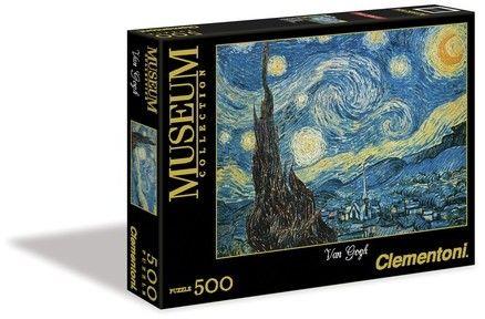 Puzzle Clementoni 500 - Van Gogh - Gwieździsta noc, Notte stellata