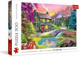 Trefl Górska Sielanka Puzzle 500 Elementów o Wysokiej Jakości Nadruku dla Dorosłych i Dzieci od 10 lat