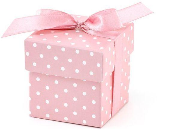 Pudełeczka różowe w kropki 10 szt PUDP5-R