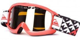 okulary snowboardowe męskie QUIKSILVER Eclipse red - orange chrome 11T