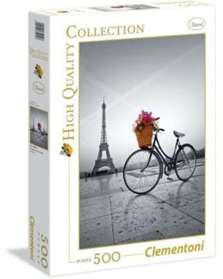 Puzzle Clem. 500 - Romantyczna promenada Paryż, Romantic promenade in Paris