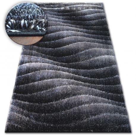 Dywan Shaggy SPACE 3D B222 ciemny szary 80x150 cm