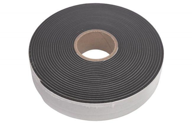 Taśma do uszczelniania okien sprężona 56 szerokosć , do szczeliny 10-20 mm, jednostronnie samoprzylepna czarna HANNOBAND (cena za 1 rolkę - 11,7 mb)