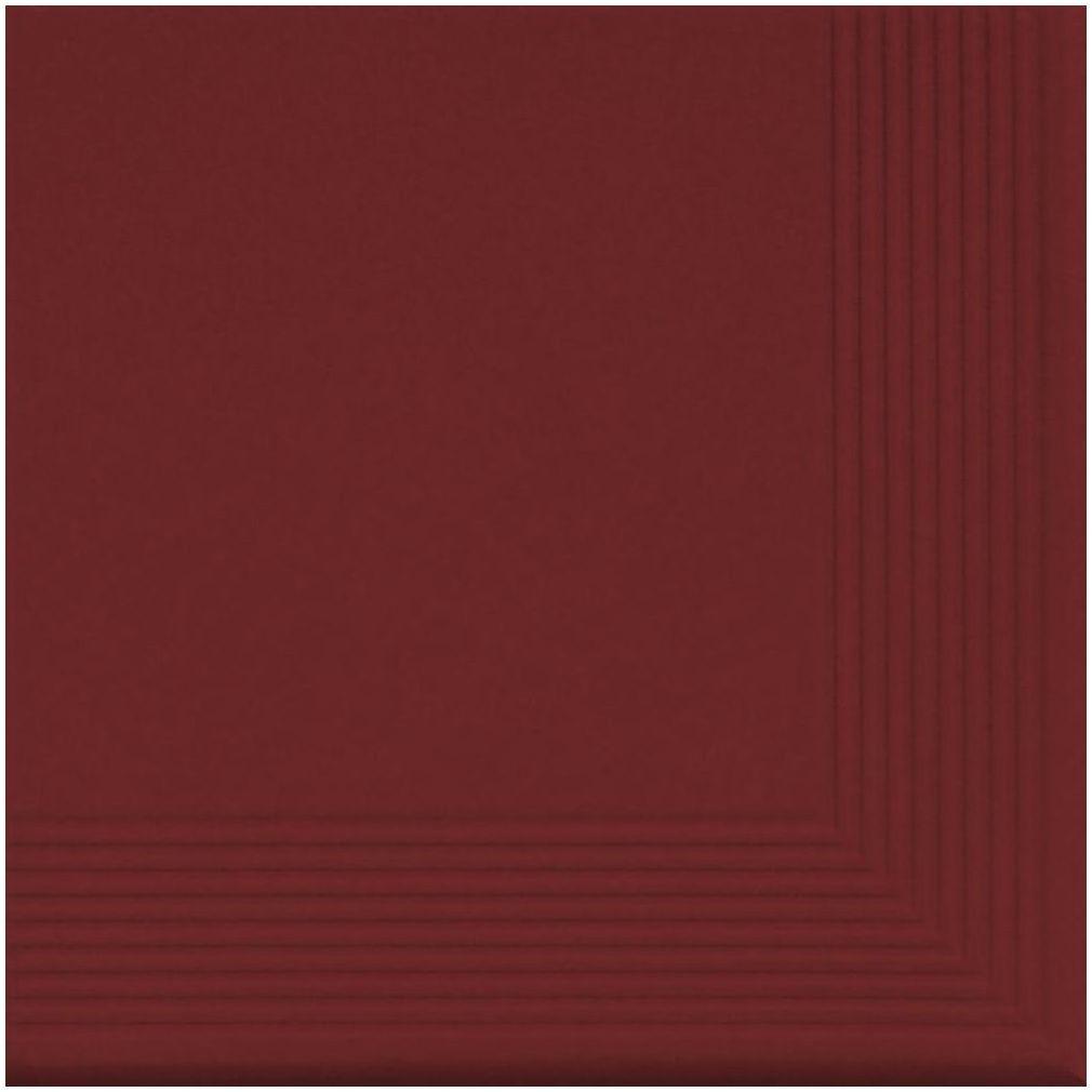 Stopnica klinkierowa narożna ROT 30 x 30 x 1.1 cm CERRAD