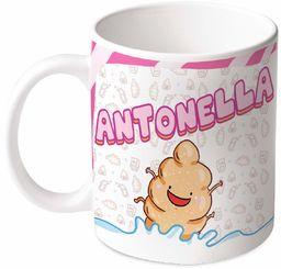 M.M. Group Filiżanka z imieniem i znaczeniem Antonella, 30 ml, ceramika, wielokolorowa