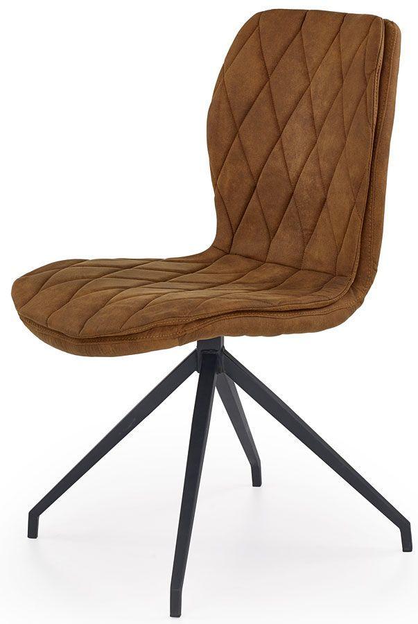 Krzesło industrialne Gimer - brązowe