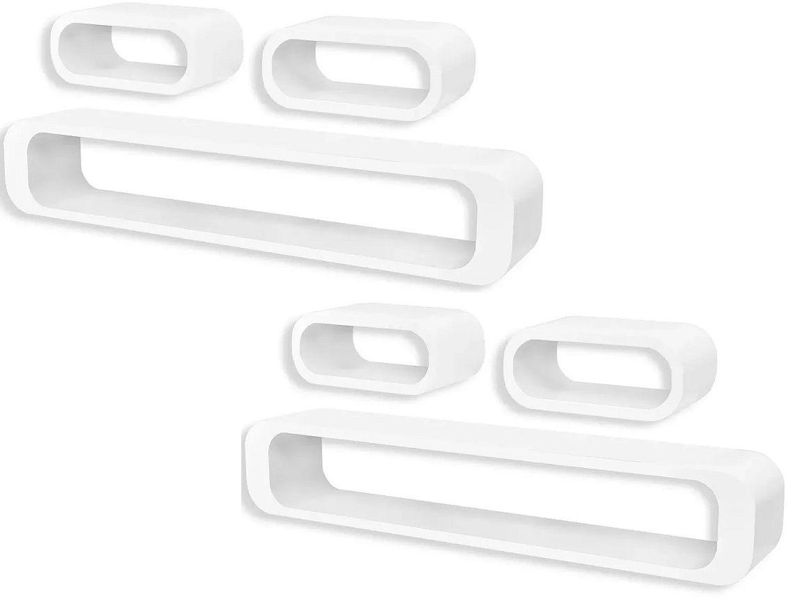 Zestaw białych półek ściennych - Mins 3X