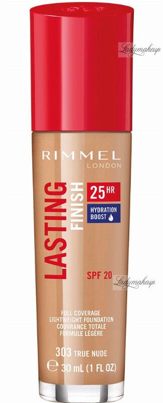 RIMMEL - LASTING FINISH 25HR - Podkład długotrwały z efektem nawilżenia - 30 ml - 303 - TRUE NUDE