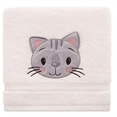 Ręcznik kąpielowy dziecięcy gruby 70x140 Kotek Spod Igły i Nitki