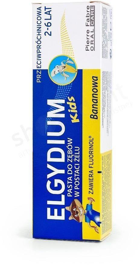 Elgydium KIDS bananowa pasta do zębów dla dzieci z fluorem 2-6 lat 50 ml