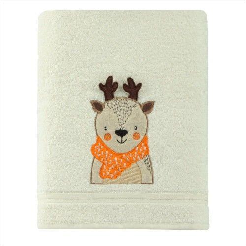 Ręcznik kąpielowy dziecięcy gruby 70x140 Renifer Spod Igły i Nitki