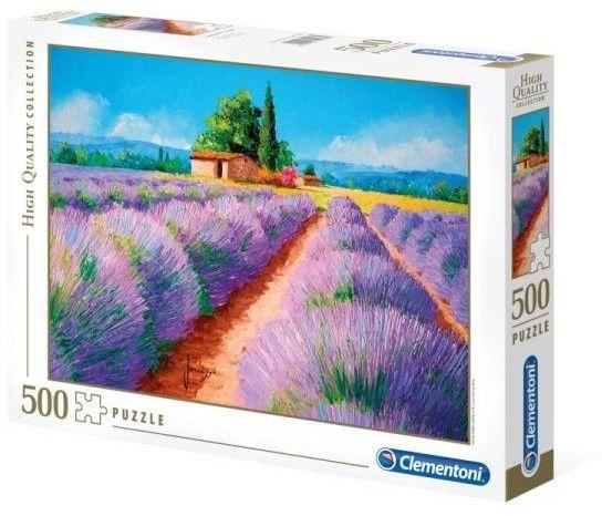 Puzzle Clementoni 500 - Lavendowy zapach, Lavender Scent