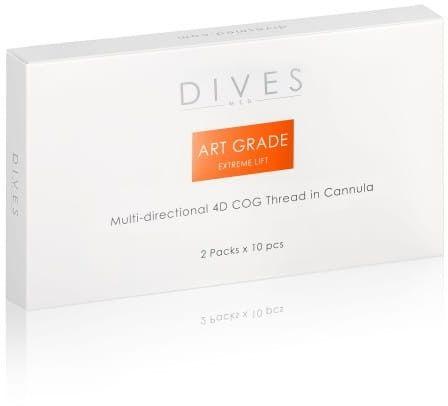 DIVES med.- Art Grade EXTREME LIFT - Multi-directional 4D COG Canulla 4x2szt.