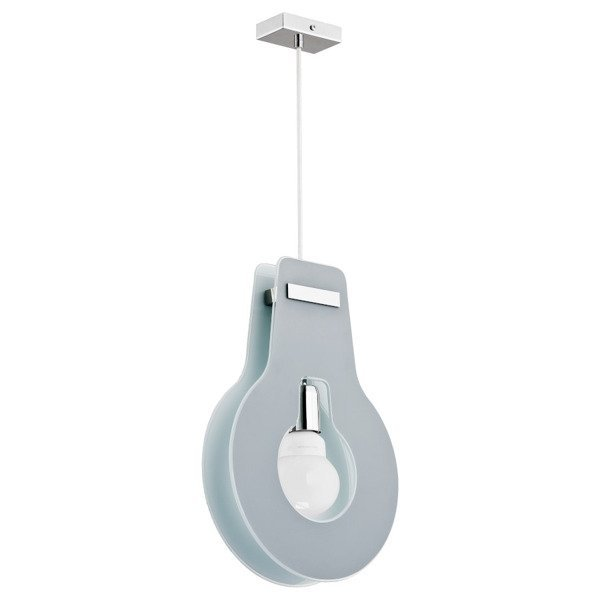 Lampa wisząca zwis ŻARÓWKA szara szer. 25cm - Szary
