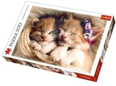 Puzzle TREFL 500 - Śpiące kotki, Sleeping kittens