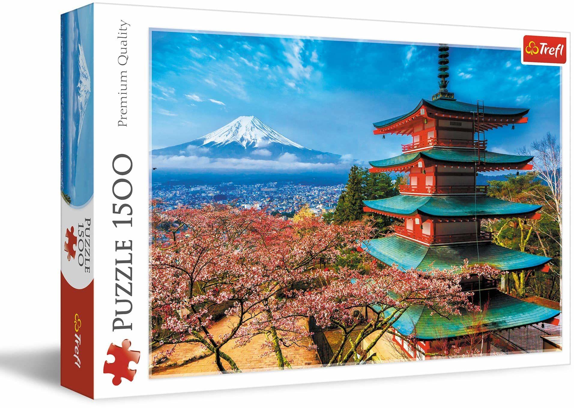 Trefl Góra Fudżi Puzzle 1500 Elementów o Wysokiej Jakości Nadruku dla Dorosłych i Dzieci od 12 lat
