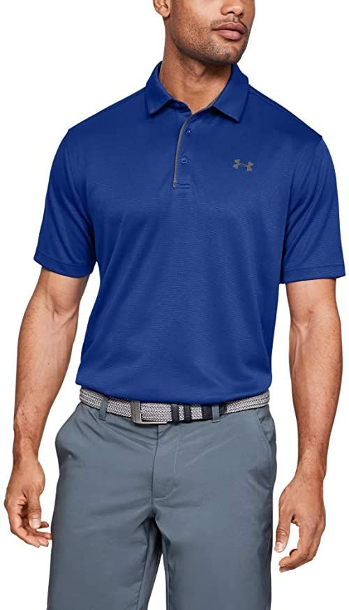 Under Armour męska koszulka z krótkim rękawem lekka i oddychająca koszulka polo dla mężczyzn, wygodna koszulka polo z krótkim rękawem NIEBIESKI S