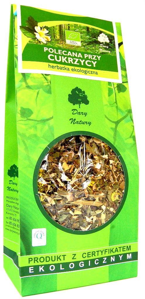 Herbatka polecana przy cukrzycy bio 150 g - dary natury