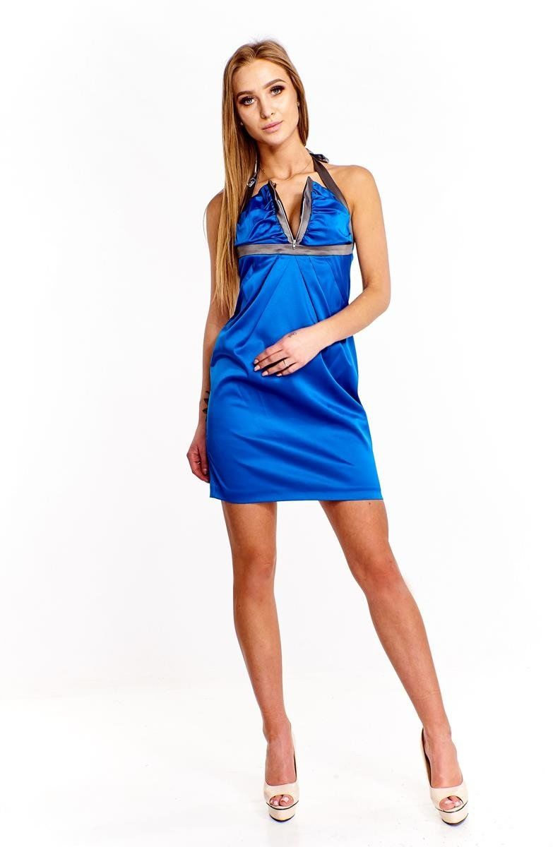 Sukienka FSU218 CHABROWY SZARY