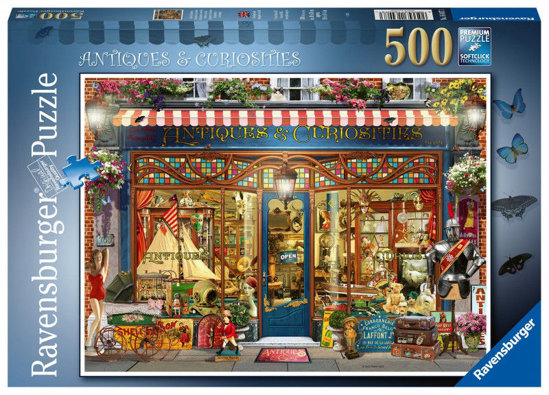 Puzzle Ravensburger 500 - Witryna z antykami, Antiques & Curiosities