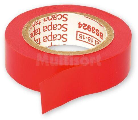 Taśma izolacyjna 15mm czerwona 10m