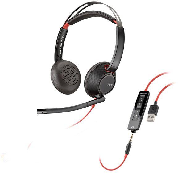 Plantronics Blackwire C5220 USB słuchawka z mikrofonem do PC i telefonu komórkowego (złącze USB-A/jack 3.5mm)