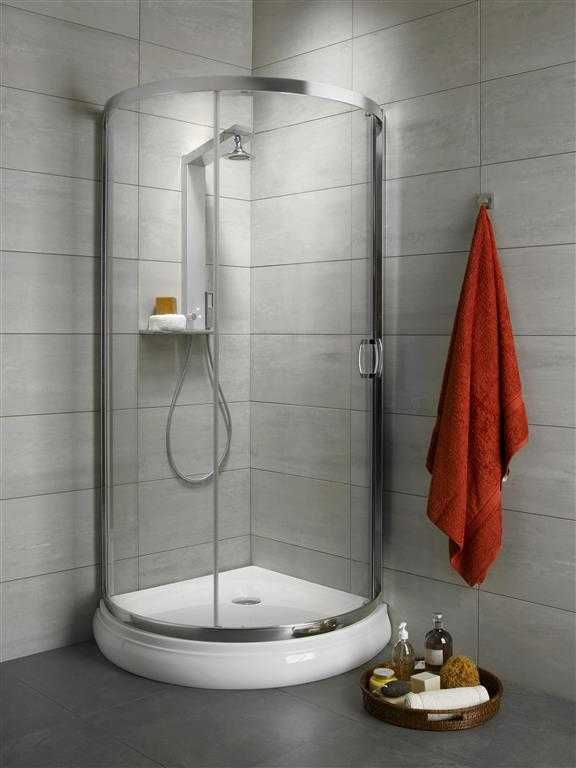 Kabina prysznicowa półokrągła Radaway Premium Plus B 90 szkło Fabric wys. 190 cm. 30473-01-06N
