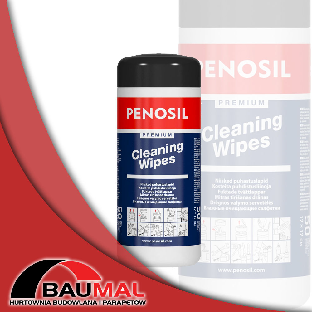Chusteczki Penosil Premium do czyszczenia piany ,ściereczki do pistoletu