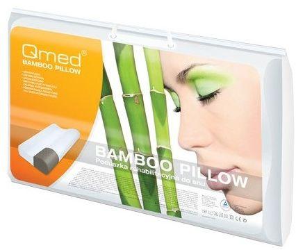 Szwedzka poduszka ortopedyczna Z WĘGLEM BAMBUSOWYM - profilowana Qmed (bamboo pillow)