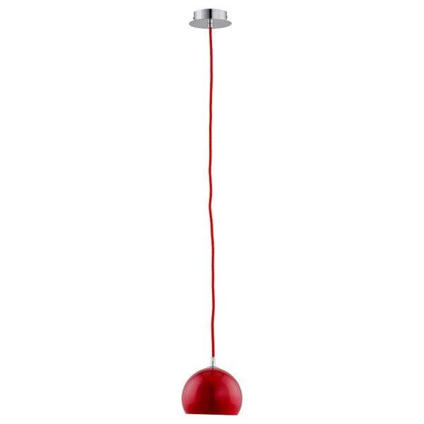 Lampa wisząca zwis WATERFALL czerwona śr. 14cm - 1 czerwony